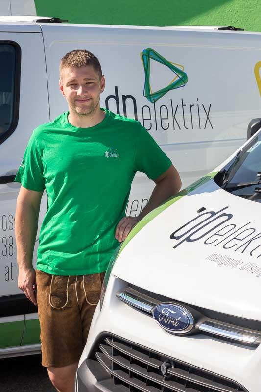 Thomas Hubauer, Elektromeister seit 2016 im Team bei dpelektrix in 5120 Haigermoos