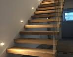 Stiegenbeleuchtung in einem Privathaus